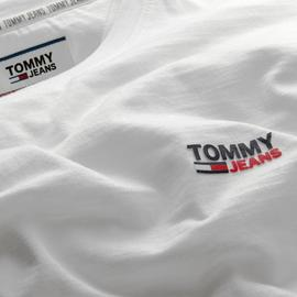 Camiseta Tommy Jeans Texture Blanca Hombre