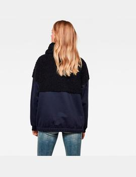 Carley high collar sw wmn ls
