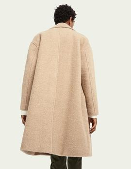 Oversized double-breasted bouclé coat