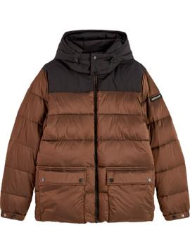 PrimaLoft® down mid-lenght hooded jacket