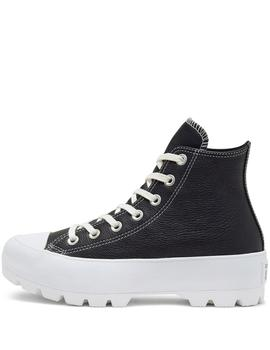 Zapatilla Converse Lugged Hi Leather Negra