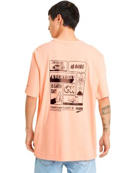 Downtown Graphic Tee Apricot Blush