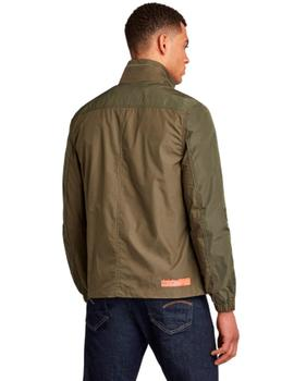 Fabric mix overshirt