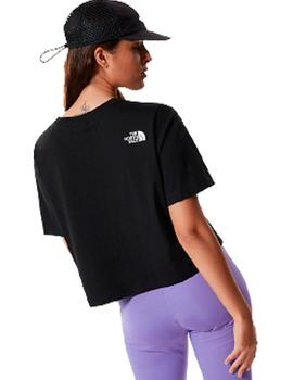 W CROPPED FINE TEE TNF BLACK