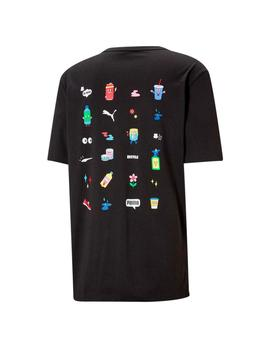 Camiseta Puma Downtown Graphic Negra